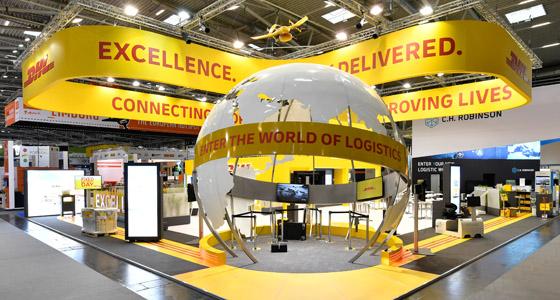 Transport Logistik 2019 - Nachhaltigkeit - in München mit dem iGlobe und DHL